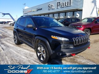 Used 2015 Jeep Cherokee Trailhawk SUV for Sale in St. Paul AB