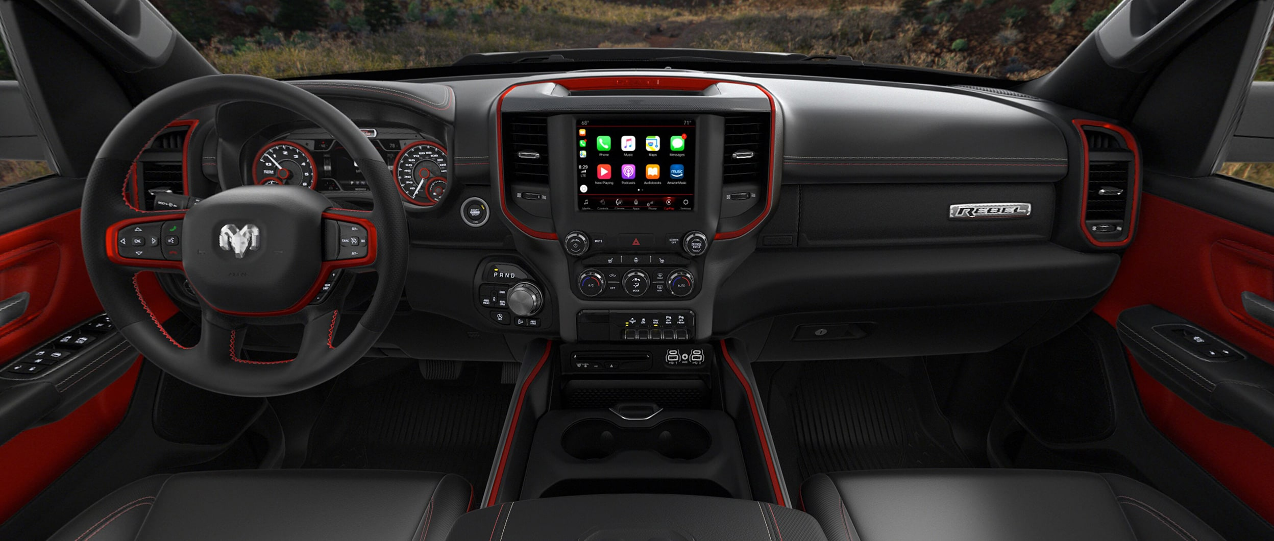 2020 Ram Rebel Interior With Red Trim