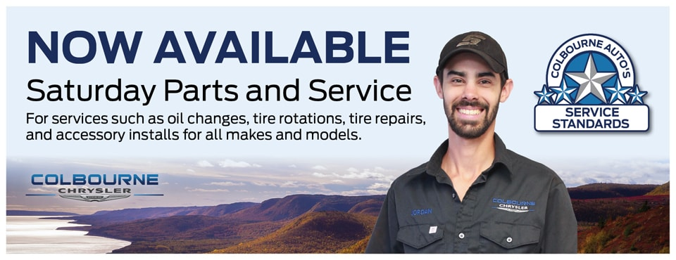 Colbourne Chrysler's Saturday Service and Parts Now OPEN!