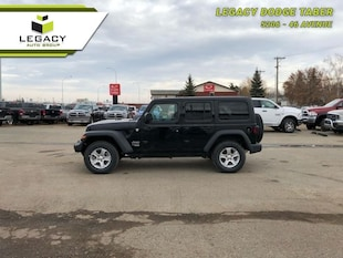 2018 Jeep Wrangler Unlimited Sport - $123.04 /Wk SUV 285HP V6 Cylinder Engine [4H4, *A7, NAS, HT1, AAN, -X9, 24S, PX8, APA, DFT, YGE, ERC]