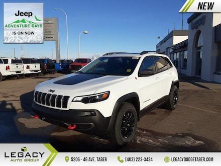 2021 Jeep Cherokee Trailhawk Elite  - Sunroof, B/U Cam, Leather - SUV 271HP V6 Cylinder Engine [NAS, AWX, UCQ, ADG, YGS, 27L, 4EX, EHK, DFJ, AHT, -X9, 4HC, PW7, APA, 3GG, *BL, WBG, 5N6]