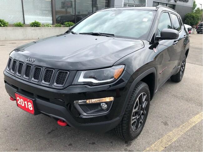 2018 Jeep Compass Trailhawk 4x4 w/Safety Tech, Sunroof, Navi, Leathe SUV