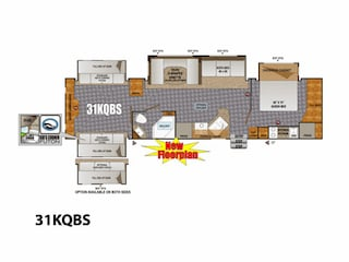 2014 Creek Side 31KQBS Travel Trailer