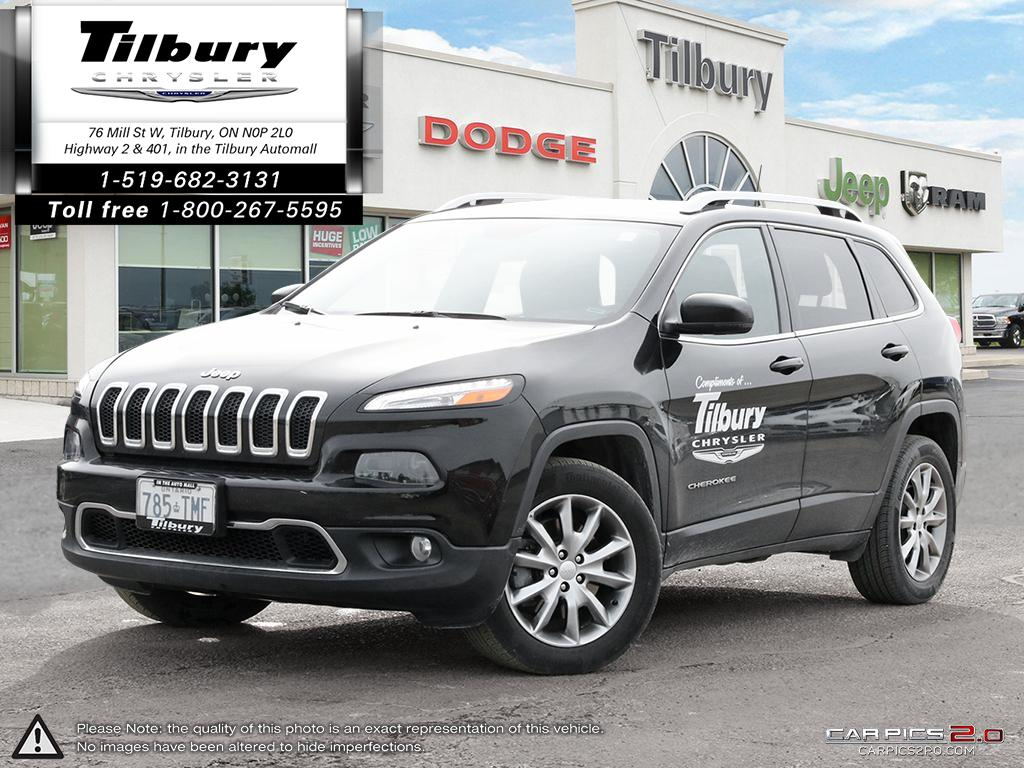2017 Jeep Cherokee Limited, Leather, Rev Cam, Well Maintained SUV