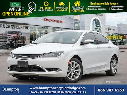 2015 Chrysler 200 C*TOP OF THE LINE*DUAL PANORAMIC*LEATHER*CERTIFIED Sedan