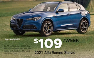 Lease a 2021 Stelvio from $109/week