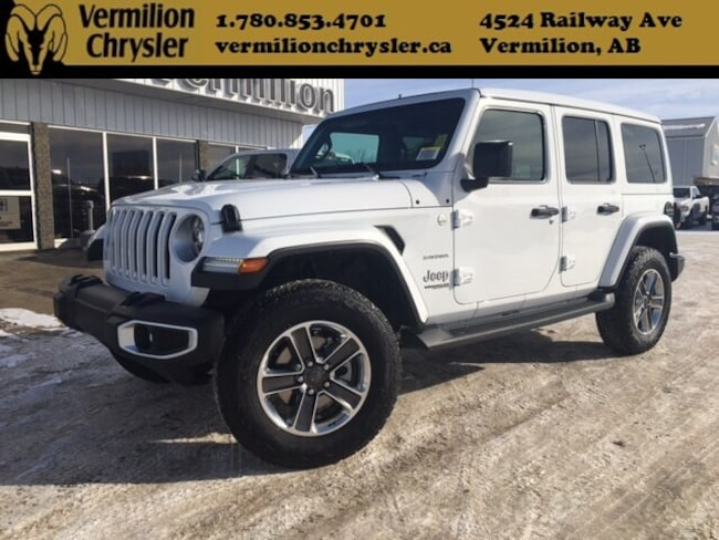 2019 Jeep Wrangler Unlimited Sahra With Sky Power Soft Top SUV