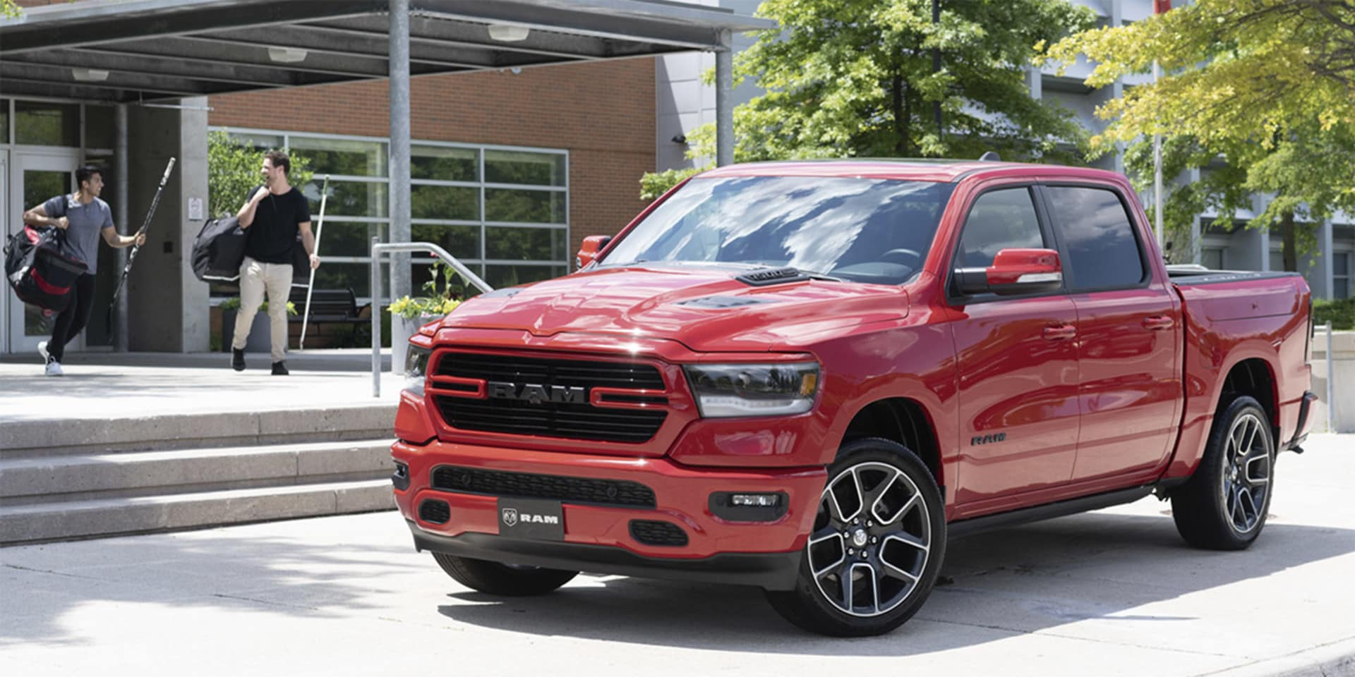 2020 Ram 1500 Sport Truck Parked Outside Recreation Centre
