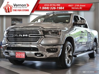 2019 Ram All-New 1500 LARAMIE Panoroof|HeatSeat/Wheel|BackUpCam|Touch Truck Crew Cab