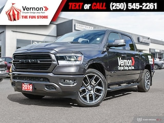 2019 Ram All-New 1500 SPORT 4X4|HeatLeatherSeat/Wheel|Panoroof|BackUpCam Truck Crew Cab