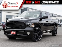 2019 Ram 1500 Classic BLACK PACKAGE 4X4|ECODIESEL|HeatLeatherSeat/Wheel Truck Crew Cab