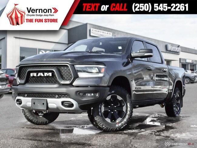 2019 Ram 1500 REBEL 4X4|HeatLeatherSeat/Wheel|Panoroof Truck Crew Cab