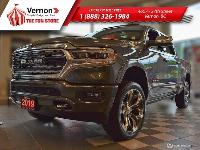 2019 Ram All-New 1500 LIMITED 4X4|Panoroof|HeatLeatherSeat/Wheel|AppleAndroid Truck Crew Cab