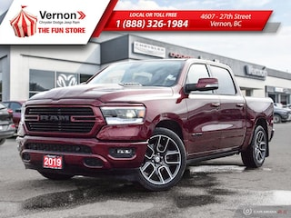 2019 Ram All-New 1500 SPORT HeatSeat/Wheel|Panoroof|BackUpCam|Touch Truck Crew Cab