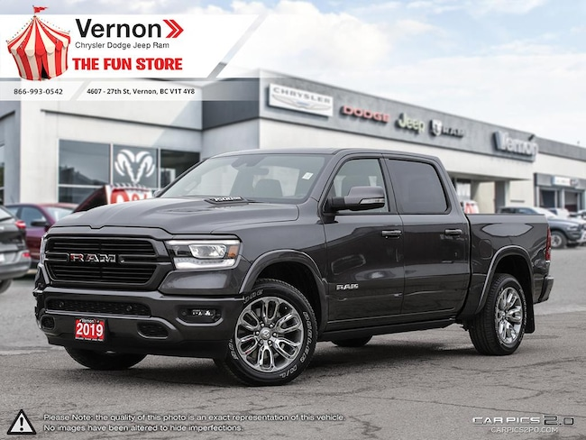 2019 Ram All-New 1500 LARAMIE 4X4|HeatLeatherSeat|Panoroof|BackUpCam Truck Crew Cab