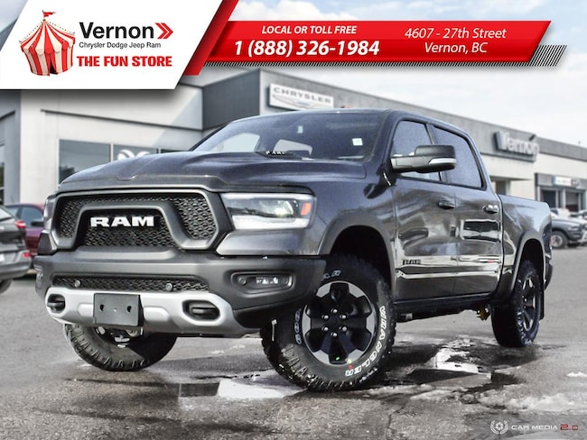 2019 Ram 1500 REBEL 4X4|HeatLeatherSeat/Wheel|Panoroof Truck Crew Cab