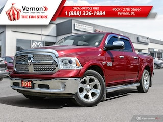 2013 Ram 1500 LARAMIE 4X4|HeatLeatherSeat/Wheel|Sunroof|BT|NAV Truck Crew Cab