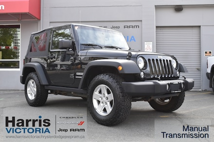 2014 Jeep Wrangler Sport with Sunrider Soft Top 4x4 for sale in Victoria, BC