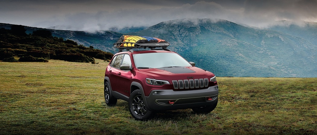 2020 Jeep Cherokee Dark Red Roof Accessories | Village Chrysler