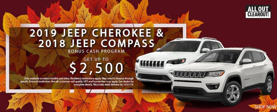 2019 Jeep Cherokee & 2018 Jeep Compass