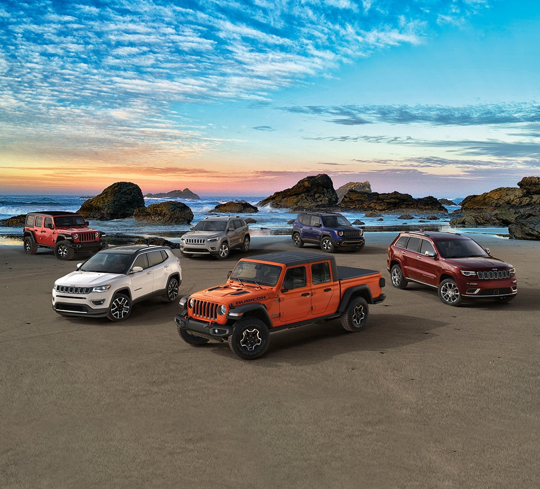 The 2020 Jeep Family On a Beach