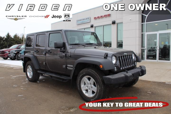 2014 Jeep Wrangler Unlimited Sport   LOW KMS   ONE OWNER   SUV 6448A