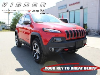 2017 Jeep Cherokee Trailhawk |LEATHER SEATS|LOCALLY OWNED| SUV 6284B