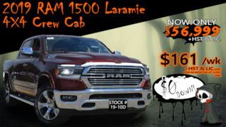 2019 Ram All-New 1500 Laramie / ALL-NEW !! PREVIOUS DEMO !! Truck Crew Cab