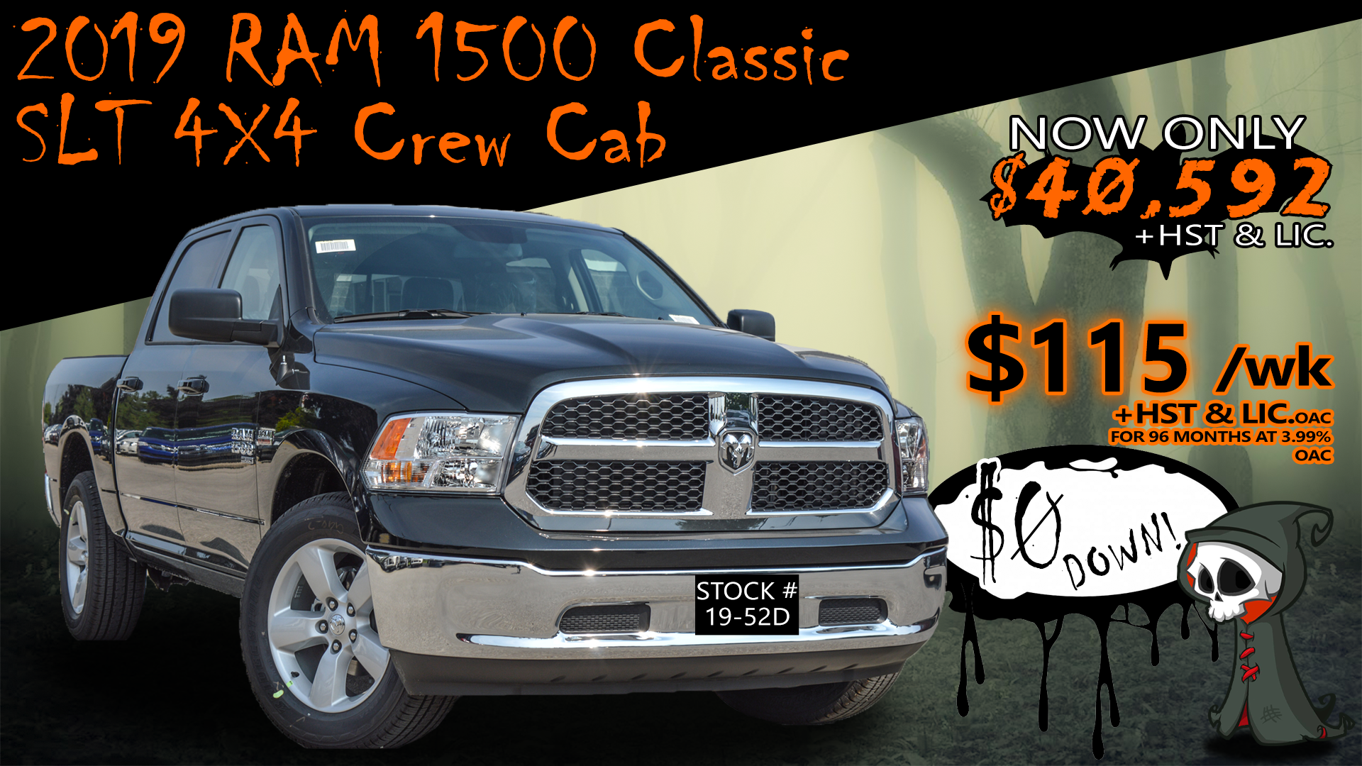 2019 Ram 1500 Classic SLT / Crew Cab / Hemi / Warranty / 4x4 ... Truck Crew Cab