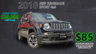 2018 Jeep Renegade Sport / 4X4 / Sport Appearance Group Pkg ... SUV