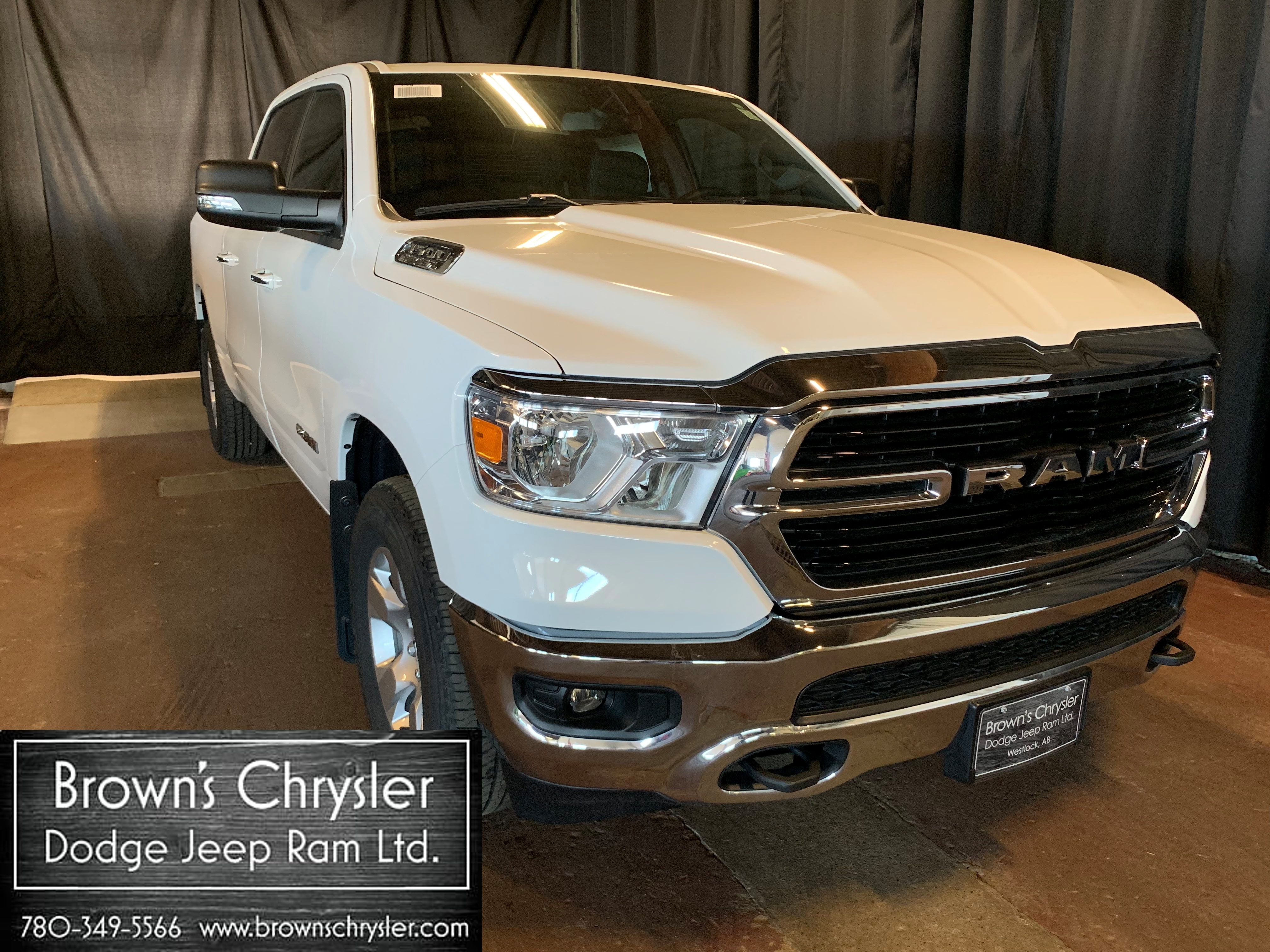 Featured New 2019 Ram All-New 1500 BIG Horn Crew CAB Hemi 4X4 Level 1 Equipment GR Truck Crew Cab 1C6SRFMT9KN569481 for sale in Westlock, AB