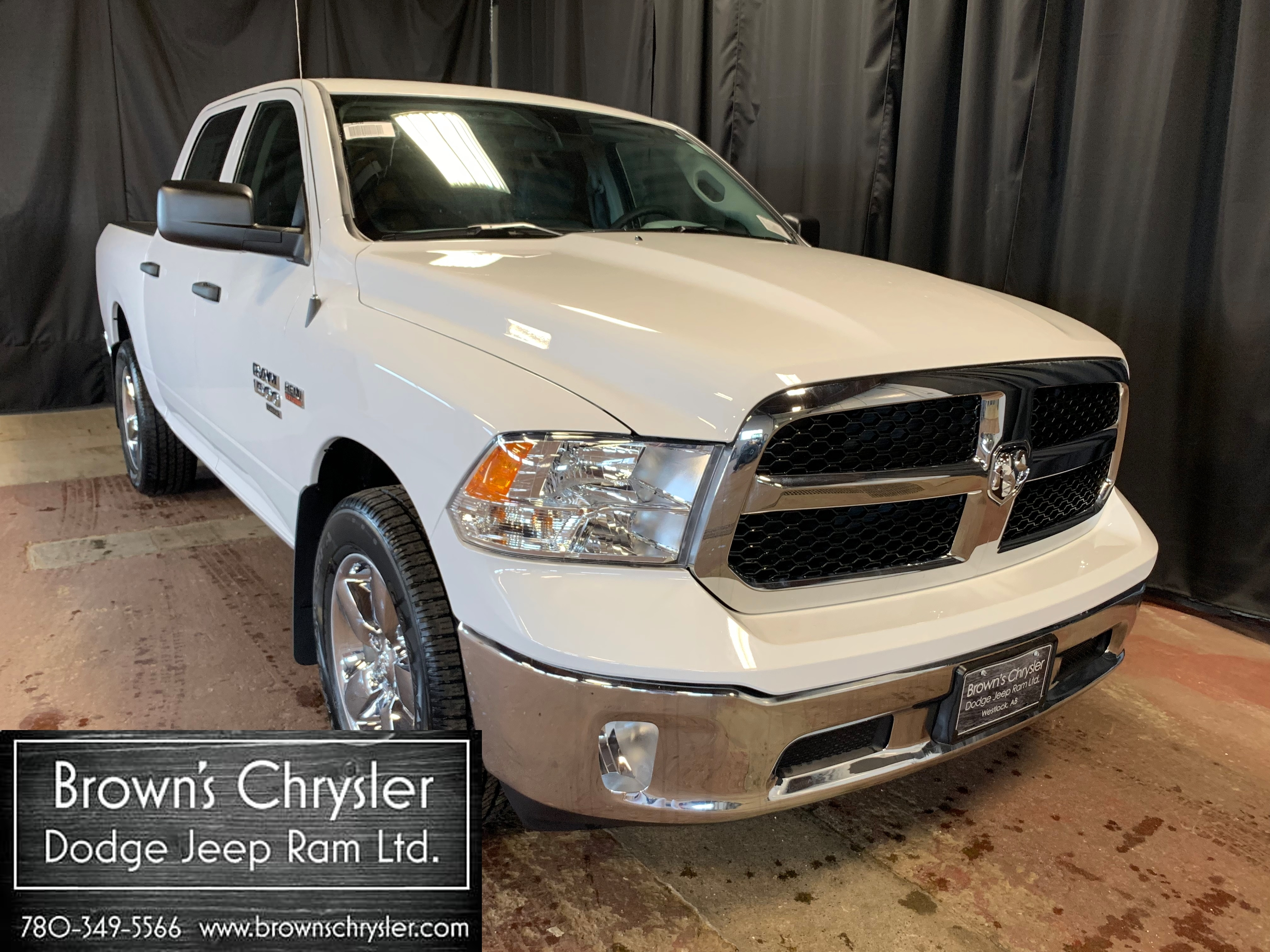 Featured New 2019 Ram 1500 Classic SXT Plus 4X4 Tradesman Package Truck Crew Cab 1C6RR7KT5KS595715 for sale in Westlock, AB