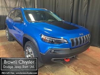 New 2021 Jeep Cherokee Trailhawk/NAV/Leather/Touchscreen/Moonroof 4x4 1C4PJMBX4MD145411 for sale in Westlock, AB