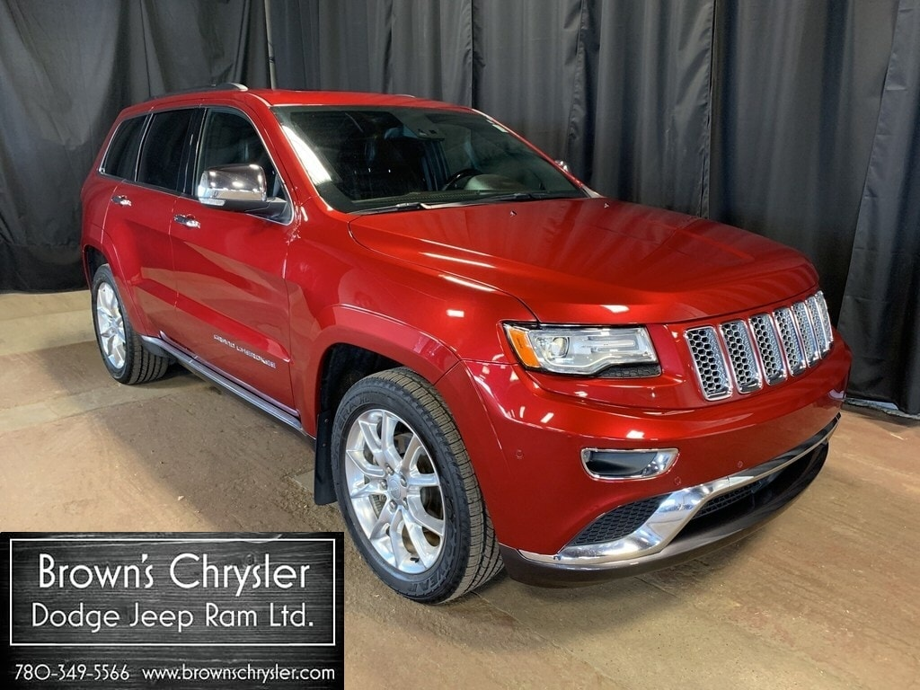 Featured Used 2015 Jeep Grand Cherokee Summit 4X4 NAV Leather / Sunroof SUV for sale in Westlock, AB