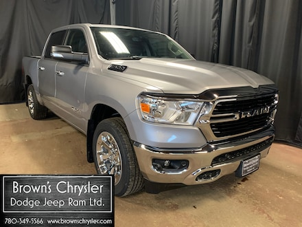 Featured new 2020 Ram 1500 Big Horn/Park Assist/Remote Start/Touchscreen 4x4 Crew Cab 144.5 in. WB 1C6RRFFG5LN389740 for sale in Westlock, AB