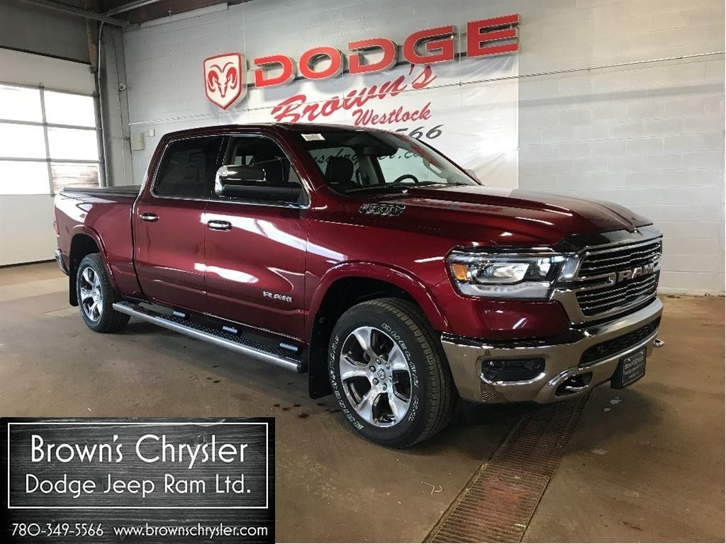 Featured New 2019 Ram All-New 1500 Crew CAB Laramie 4X4 / Level 2 Equipment Group Truck Crew Cab 1C6SRFRT9KN562541 for sale in Westlock, AB
