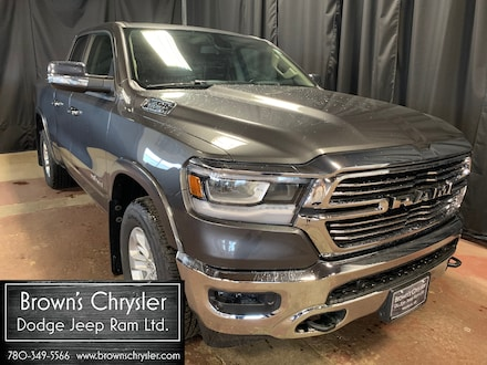 Featured Used 2019 Ram 1500 Laramie, Quad Cab 4X4, Remote Tailgate Release, Park Assist, Hands Free for sale in Westlock, AB