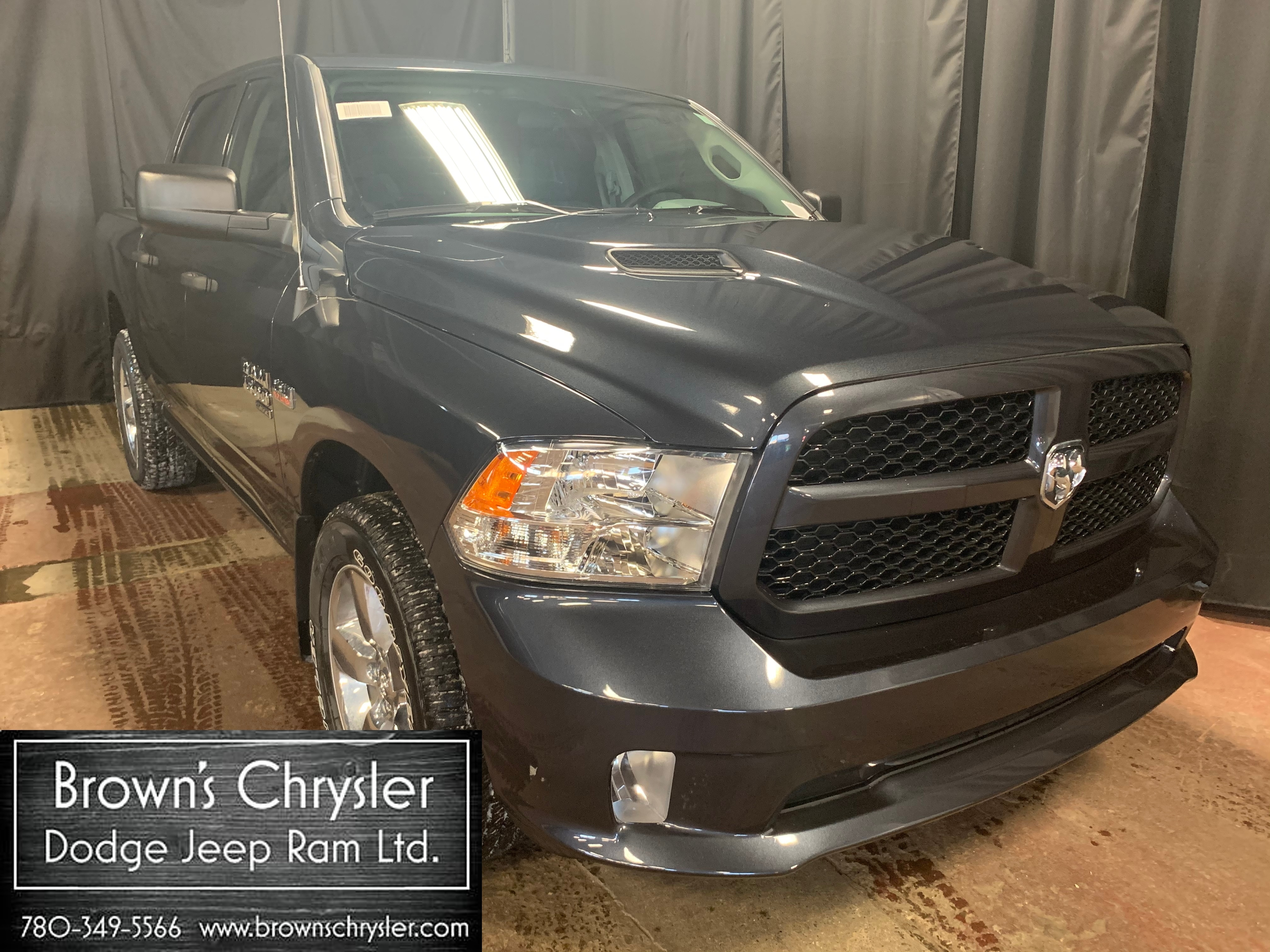 Featured new 2019 Ram 1500 Classic Express Sport pkg, Trailer Hitch, Keyless entry, U Truck Crew Cab 1C6RR7KT8KS537954 for sale in Westlock, AB