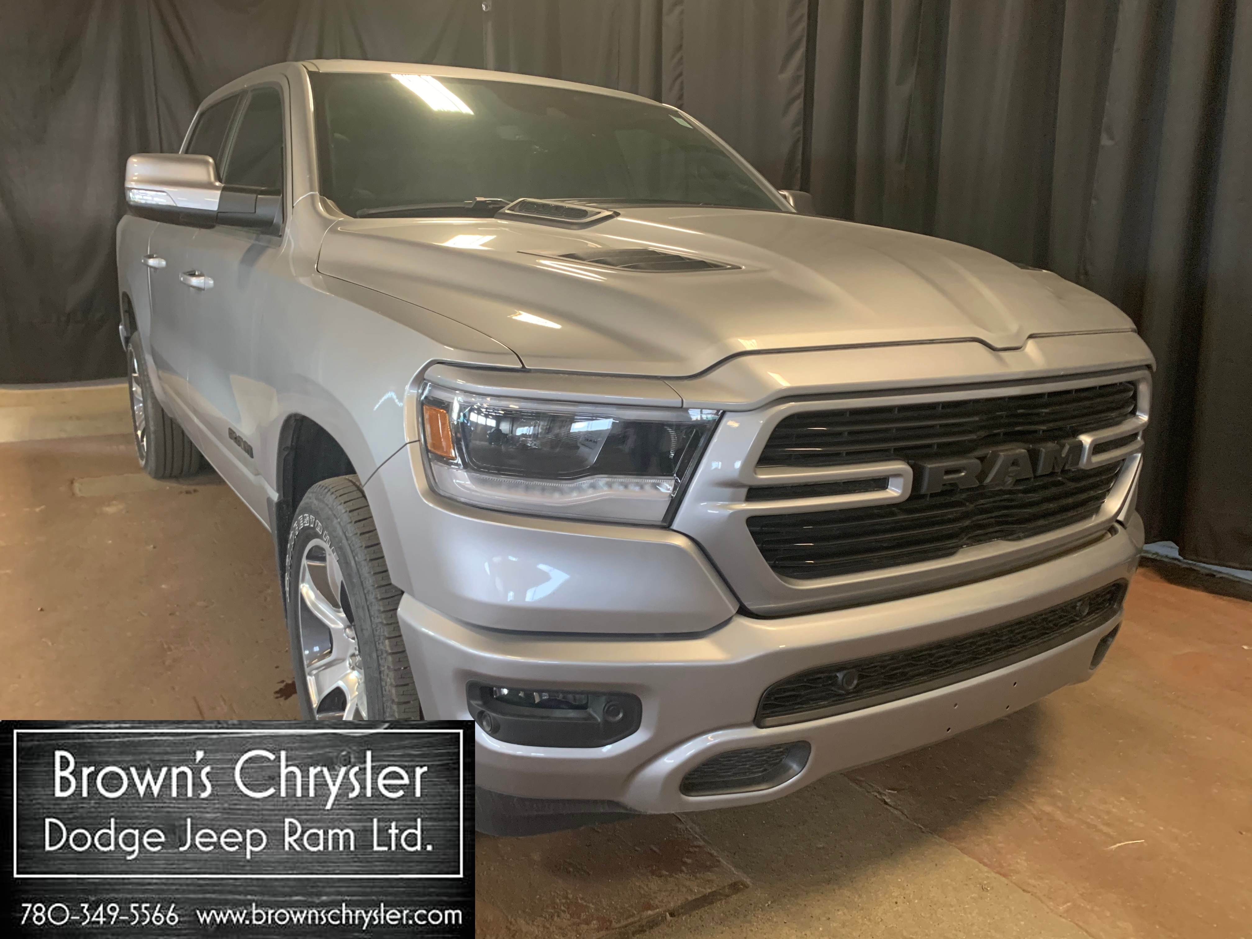 Featured new 2019 Ram All-New 1500 Sport Truck Crew Cab 1C6SRFLT4KN543114 for sale in Westlock, AB