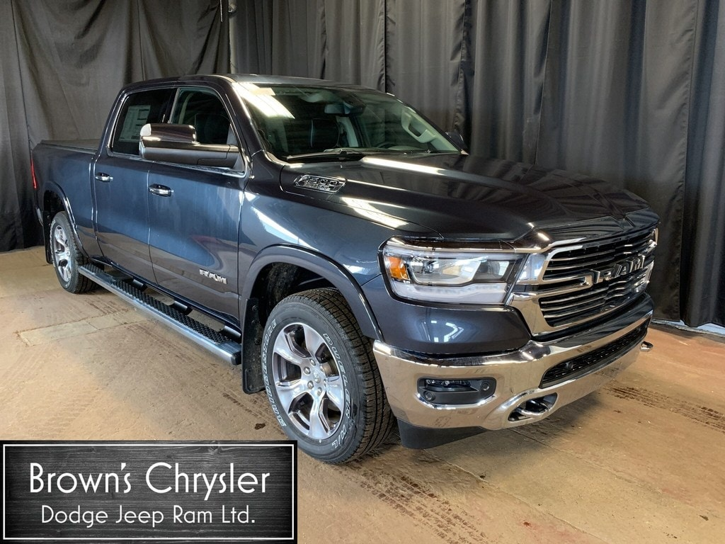 Featured New 2019 Ram All-New 1500 Crew CAB Laramie 4X4 / Level 2 Equipment Group Truck Crew Cab 1C6SRFRT0KN562539 for sale in Westlock, AB
