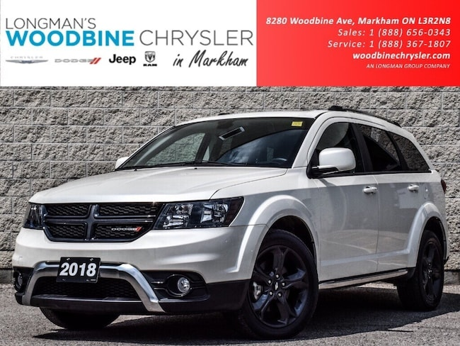 2018 Dodge Journey Crossroad AWD NAV Cam 7pass Leather Sunrf DVD Load SUV