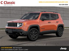 New 2020 Jeep Renegade UPLAND 4X4 Sport Utility for sale in Clearfield, PA