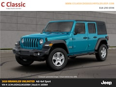 New 2020 Jeep Wrangler UNLIMITED SPORT S 4X4 Sport Utility for sale in Clearfield, PA