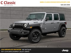 New 2020 Jeep Wrangler UNLIMITED WILLYS 4X4 Sport Utility for sale in Clearfield, PA