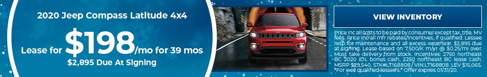 January 2020 Jeep Compass Lease