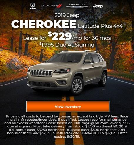 September 2019 Jeep Cherokee Offer