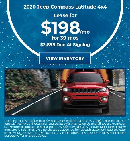 January 2020 Jeep Compass Lease