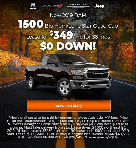 September 2019 1500 Offer Lease Offer