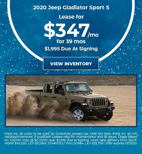 January 2020 Jeep Gladiator Lease