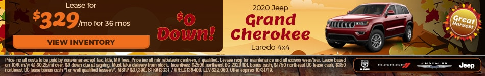 October 2020 Jeep Grand Cherokee Lease